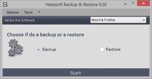 Hekasoft Backup Restore Screen shot